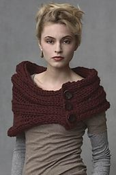 Ravelry: Tundra Capelet with Buttons pattern by Teva Durham