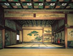 Nijo-jo Castle Audience Chamber in Ninomaru Palace Nijo-jo, Kyoto Japanese Culture, Japanese Art, Japanese Geisha, Japanese Kimono, Web Japan, Nijo Castle, Japanese Lifestyle, Traditional Japanese House, Japan Garden