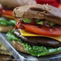 Another shot of our portobello Mushroom Burger. #burger #healthyfood #bestoftheday #healthyrecipes #portobellomushroom #healthylifestyle