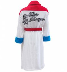 Go for the rebellious look with this awesome, Harley Quinn Daddy's Lil Monster Dressing Gown, styled on the outfit worn by the character in the Suicide Squad movie.  #HarleyQuinn #SuicideSquad #DressingGown