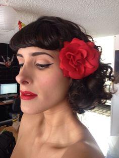 Pinup makeup for photoshoot with Rocio Garcia a gorgeaus mexican actress and friend of mine. Maquillaje pinup para sesion fotografica con Rocio Garcia actriz mexicana guapisima y amiga mia. Proximamente podran verla en la serie televisiva El Mariachi.