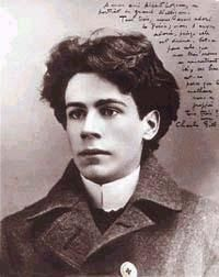 Émile Nelligan, age 20 in 1899. First published at 16, this French-Canadian poet suffered a mental breakdown the same year this photograph was taken. He never recovered.