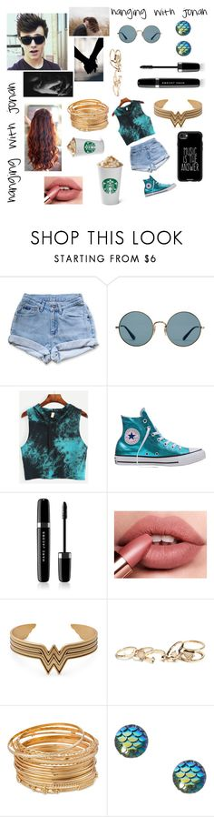 """hanging with jonah from why don't we"" by kinleygrace04 ❤ liked on Polyvore featuring Levi's, Ray-Ban, Converse, Marc Jacobs, GUESS and Casetify"