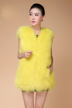 2017 New Genuine Mongolia Sheep Fur Vest Women full pelt Sheep Fur Fur Jacket fur Waistcoats make Big Size Free Shipping F844