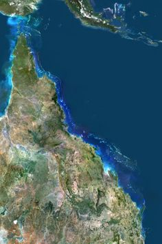 Satellite Image of Great Barrier Reef, Australia Photographic Print