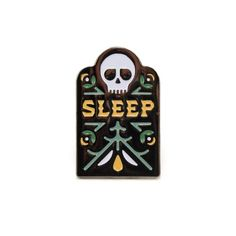 Sleep Soft Enamel Pin w/ Black Rubber Pin Clutch