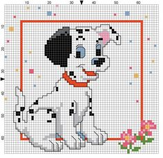 101 Dalmatian cross stitch pattern
