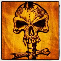 #skull #voodoo Shanty Hinge original Kevin Davies, Voodoo, Tattoo Art, Skull, Darth Vader, The Originals, Fictional Characters, Fantasy Characters, Skulls