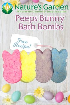 Free Peeps Bunny Bath Bomb Recipe by Natures Garden