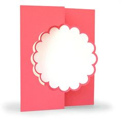 Silhouette Online Store - View Design #28759: 3d flip swing card scalloped
