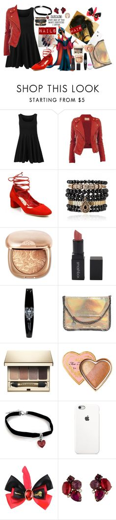 """Sarcasm:just one of the many services I offer   Jafar  DISNEYBOUND"" by ahardcorepianist ❤ liked on Polyvore featuring Miu Miu, Samantha Wills, Smashbox, STELLA McCARTNEY, Clarins, Disney and Iradj Moini"