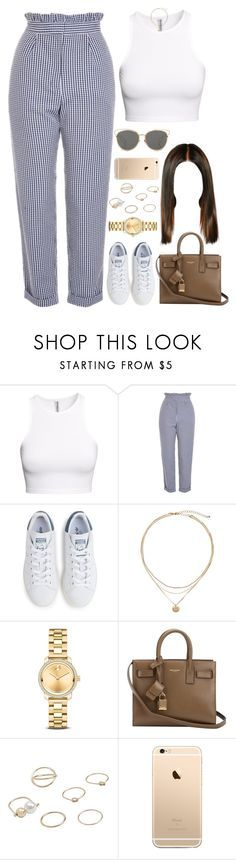 """""""23.04.17"""" by jamilah-rochon ❤ liked on Polyvore featuring H&M, Topshop, adidas, Movado, Yves Saint Laurent, MANGO and Christian Dior"""