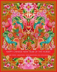 Artista gráfica Catalina Estrada Chinese Design, Chinese Style, Catalina Estrada, Make A Cartoon, Horse Cartoon, Year Of The Horse, Paper Illustration, Zodiac Symbols, Happy Chinese New Year