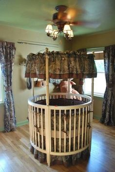 This is such a cute idea and awesome for more space around the room! And of course....the camo rocks!