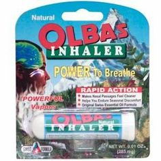 Aromatherapy Inhaler, 0.01 oz 285 mg, From Olbas Therapeutic by Olbas. $7.69. Aromatherapy Inhaler, 0.01 oz 285 mg, From Olbas Therapeutic. Save 89%!