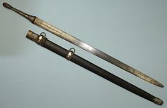 Omani straight sword with a European blade
