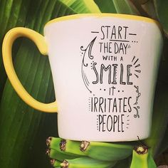 Good morning!! There's no better way to start off your #Monday morning than with this sassy coffee mug! #morning #smile #idontdomornings #coffeeaddict #coffeelover
