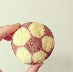 Soccer ball cookie