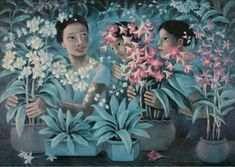 Day 263: Anita Magsaysay-Ho (Filipino, 1914-2012)  Check the blog for more pictures and info! www.365womenartists.com/ #dailyart #artgram #picoftheday #artlovers #arthistory #5womenartists #365womenartists #femaleartist #20thcentury #20thcenturyart #21stcenturyart #21stcentury #philippines #filipino #filipinoartist #filipinoart #modernism #modernist #modernistart #orchids (photo: Salcedo Auctions) Filipino Art, Pinoy, Modernism, More Pictures, 21st Century, Art History, Philippines, Orchids, Wall Art