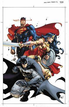 Justice League Rebirth variant cover by Joe MadureiraYou can find Joe madureira and more on our website.Justice League Rebirth variant cover by Joe Madureira Joe Madureira, Heros Comics, Dc Comics Characters, Comic Book Heroes, Comic Book Artists, Comic Books Art, Comic Art, Batman Wonder Woman, Dc Rebirth