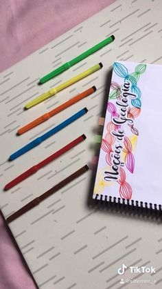 Bullet Journal Banner, Bullet Journal Ideas Pages, Bullet Journal Inspiration, Caligraphy Alphabet, Hand Lettering Alphabet, School Organization Notes, School Notes, Pretty Notes, Good Notes