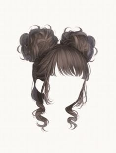 Female Anime Hairstyles, Drawing Hairstyles, Easy Hair Drawings, Pelo Anime, Chibi Hair, Manga Hair, Hair Illustration, Anime Drawing Styles, Hair Sketch