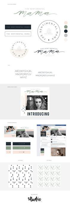 Branding The Sentimental Mama by Studio9co