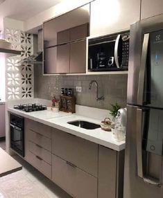 Kitchen Room Design, Home Room Design, Modern Kitchen Design, Home Decor Kitchen, Interior Design Kitchen, Kitchen Furniture, Home Kitchens, House Design, Cuisines Design