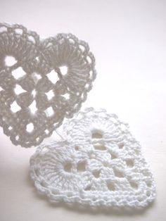 Here's some lovely Granny Heart inspiration from the Finnish blog Omakoppa.  No pattern, but if you're an intermediate 'hooker' you should be able to work out the stitches quite easily if you wanted to.