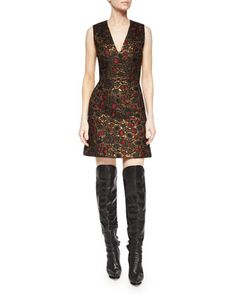 Holden A-Line Jacquard Dress by Alice + Olivia at Neiman Marcus.