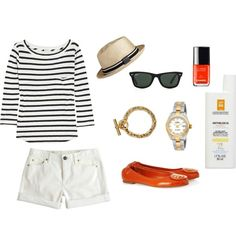 """Day at the Beach"" by johannawallasvaara on Polyvore"