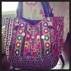 Brand new colourful #banjara bags just landed! Get in touch at info@be-snazzy.com for more #ethnic #boho #beachbags