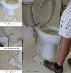 The PLIFTER... a hands-free toilet seat lifter by Davis Meeks — Kickstarter