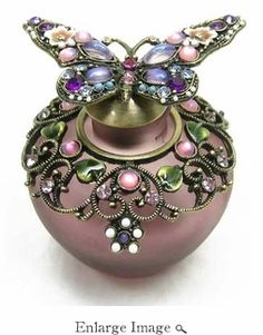 Jeweled & Enameled Sperkle Butterfly Perfume Bottle i love this