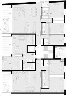 Mehrfamilienhaus grundriss beispiele LOFTS, SUITES y