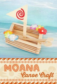 Learn How to Make a Wonderful Moana Canoe Craft! Moana Party, Moana Birthday Party, Party Make-up, Craft Party, Craft Stick Crafts, Craft Sticks, Party Ideas, Tween Party Games, Halloween Party Games