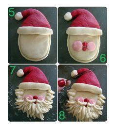 Brooddeeg kerstman knutselen met kinderen