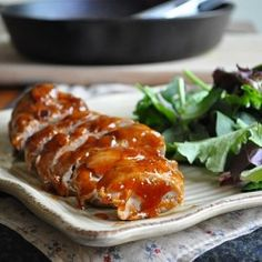 Pork with Apricot Glaze 8/10  very good careful to not overcook