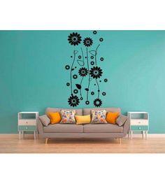 Adesivo de parede para sala no tema power flower