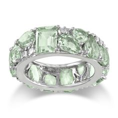 @Overstock.com - Miadora Sterling Silver Green Amethyst Ring - Multi-cut green amethyst gemstone ringSterling silver jewelryClick here for ring sizing guide  http://www.overstock.com/Jewelry-Watches/Miadora-Sterling-Silver-Green-Amethyst-Ring/7729031/product.html?CID=214117 $70.99