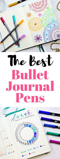 The Best Pens for Bullet Journaling,The best bullet journal pens that won't bleed thru! Best Bullet Journal Pens, Pens For Bullet Journaling, Bullet Journal Contents, Bullet Journal Notebook, Bullet Journal School, Bullet Journal Ideas Pages, Bullet Journal Layout, Bullet Journal Inspiration, Bullet Journals