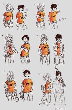Percy and Annabeth throughout the books