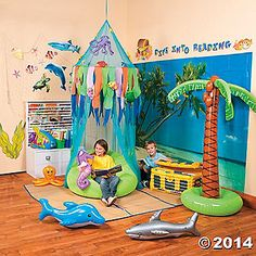 Sea Life Reading Corner- really looking to dedicate time to my reading corner this year