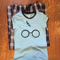 Harry Potter Wizard lounge wear gift set pjs pj pajama party college dorm fandom vacation #harrypotter