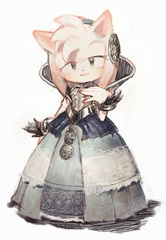 Nimue by aoki6311.deviantart.com on @DeviantArt Amy as a princess in Sonic and the black knight. So cute!