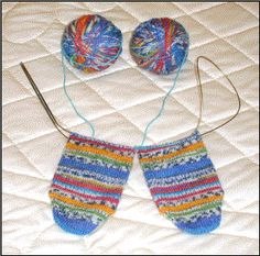 Toe up two at a time sock pattern on one circular needle