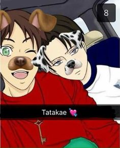 """Eren looked up at him, """"Do you want to be on my story?"""" Eren held out his phone to show both of their faces on the screen. Levi stared at his reflection as Eren swiped the screen. The result being black and white dog ears and a nose that appeared on his face. Eren pressed the screen to take a picture.    """"What even is that?"""" Levi asked. """"Wait, you better not be planning on showing anyone brat.""""    """"Of course not!"""" Eren assured him."""