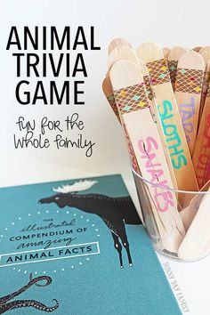 Make your own animal trivia game for family game night! This super fun DIY game…