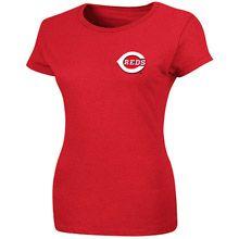 Cincinnati Reds Women's Official Wordmark T-shirt by Majestic Athletic
