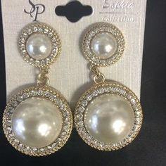 Sophia Collection Jewelry - NWT Big Pearl Fashion Earrings